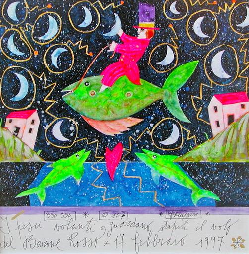 Francesco MUSANTE - Pintura - I pesci volanti