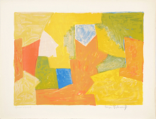 Serge POLIAKOFF - Estampe-Multiple - Composition in Yellow, Orange and Green