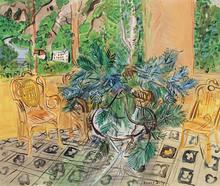 拉奥尔•杜飞 - 绘画 - La terrasse à Vernet-Les-Bains