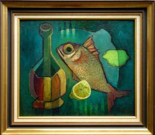 Louis TOFFOLI - Pintura - Basco and Fish