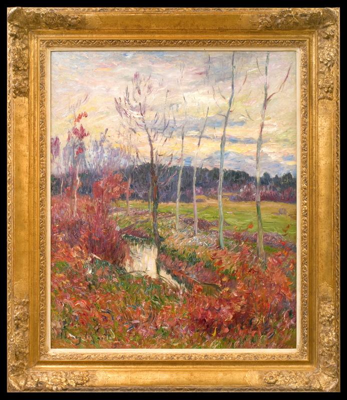 Henry MORET - Painting - Automne près du Vernisson à Boismorand dans le Loiret