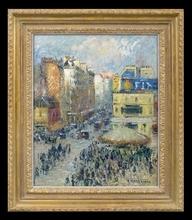 Gustave LOISEAU (1865-1935) - La Rue du Clignancourt, Paris