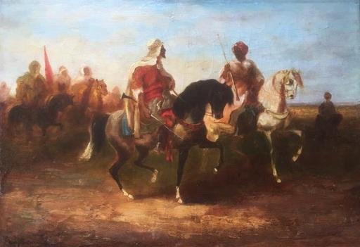 Eugène FROMENTIN - Pintura - Fantasia in Algeria