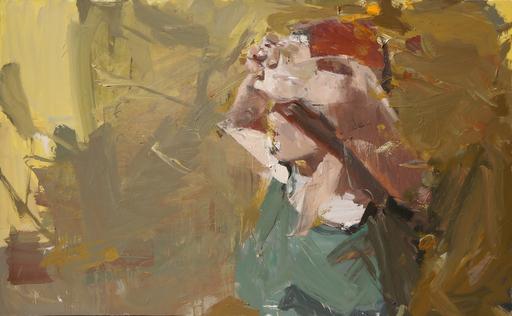Vladimir SEMENSKIY - Painting - Girl with the Raised Hands