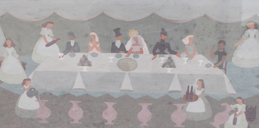Maud GERARD - Zeichnung Aquarell - Le mariage