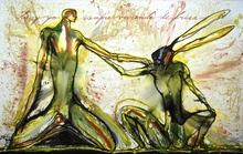 José BEDIA VALDÉS - Peinture - Tu y yo siempre viviendo de prisa