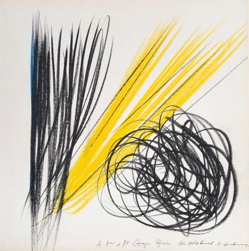 Hans HARTUNG - Disegno Acquarello - Grohmann Will, Aquarelle 1922