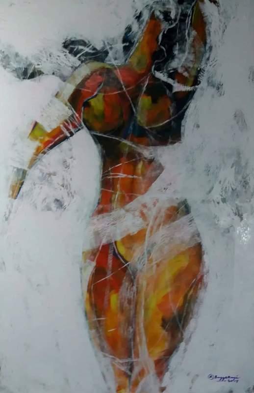 R.U. SUBAGIO - Painting - Female figure