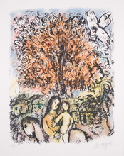 Marc CHAGALL - Estampe-Multiple - Le Sainte Famille