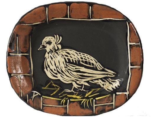 巴勃罗•毕加索 - 陶瓷  - Colombe mate