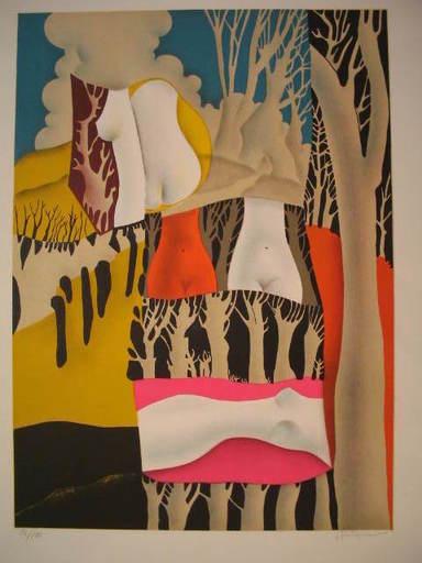 Josep PUIGMARTI VALLS - Druckgrafik-Multiple - Nu dans la Foret,1975.