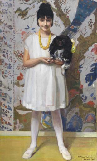 Arturo NOCI - Painting - Ritratto (Marcella Rossellini), 1922