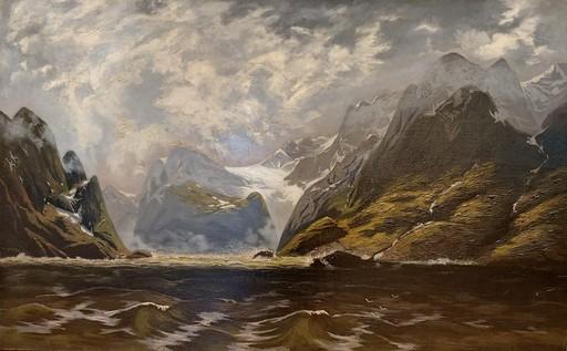 Adelsteen NORMANN - Gemälde - Stürmische Fjordlandschaft