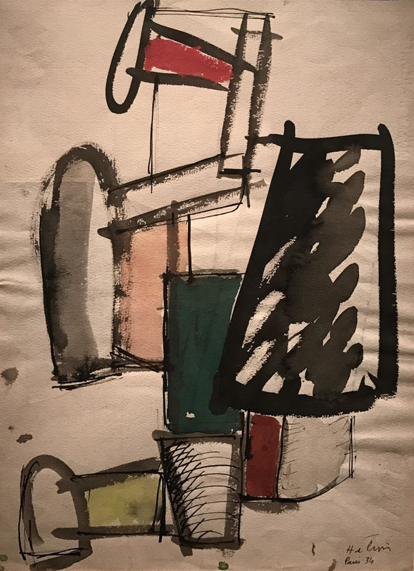 Jean HÉLION - Dibujo Acuarela - Equilibre