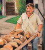 R.CAVALIÉ - Drawing-Watercolor - Le boulanger de Chanaz 2