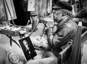 Robbert Frank HAGENS - Photography - Painter - Place du Tertre Montmartre, Paris 1975
