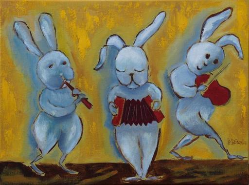 Danielle LE BRICQUIR - Painting - Concert sur la garenne