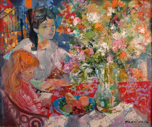 Emilio GRAU-SALA - Gemälde - Interieur au Bouquet, Paris 1964