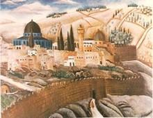 Reuven RUBIN - Grabado - Jerusalem