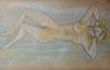 Marcel JANCO - Drawing-Watercolor - Nude