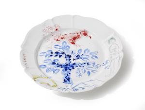 Marc CHAGALL - Keramiken - L'arbre bleu et le coq rouge