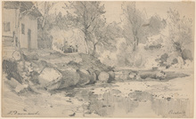 "Hugo DARNAUT (1851-1937) - Hugo Darnaut (1851-1937) ""Motif from Bistritz"" drawing"