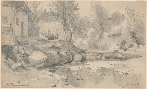 "Hugo DARNAUT, Hugo Darnaut (1851-1937) ""Motif from Bistritz"" drawing"