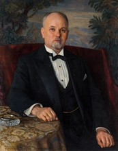 Nikolaj Petrovich BOGDANOV-BELSKY - Painting - Portrait of A. T. Goncharov