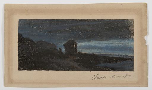 Claude MONET - Disegno Acquarello - Yport la nuit