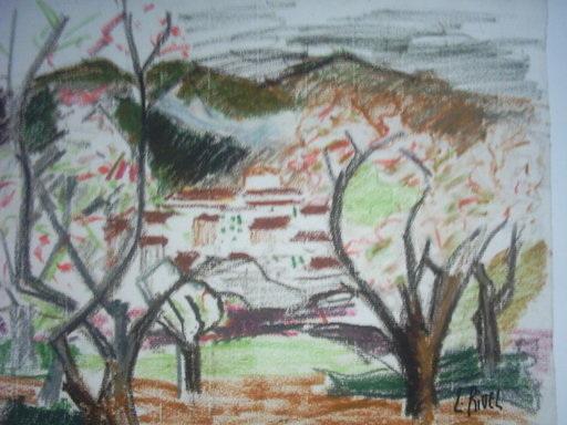 Lucie RIVEL - Dibujo Acuarela - PAYSAGES