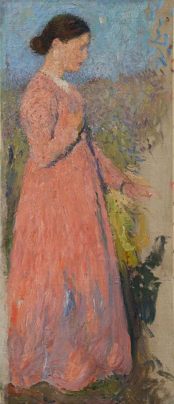 亨利•马丁 - 绘画 - Femme en rose