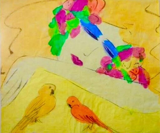 TING Walasse - Pittura - Untitled