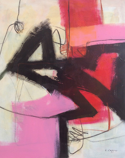 Linda COPPENS - Painting - Relation 5