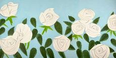 Alex KATZ - Grabado - White Roses