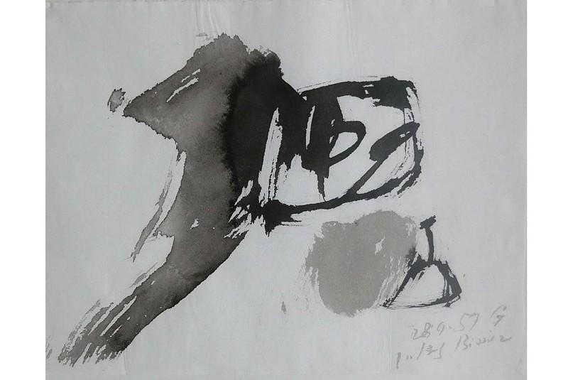Julius Heinrich BISSIER - Dessin-Aquarelle - Werner gewidmet
