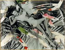 Mimmo ROTELLA - Painting - il relax di Rita