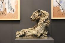 Patrick VILLAS - Sculpture-Volume - Panthère pattes croisées
