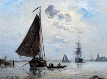 Johan-Barthold JONGKIND - Painting - Sortie de Port