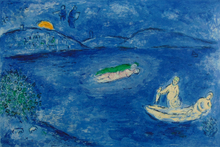 Marc CHAGALL - Print-Multiple - Echo, from: Daphnis and Chloe   L'Echo, 1961