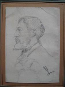 Maximilien LUCE - Drawing-Watercolor - PORTRAITS  D   HOMME