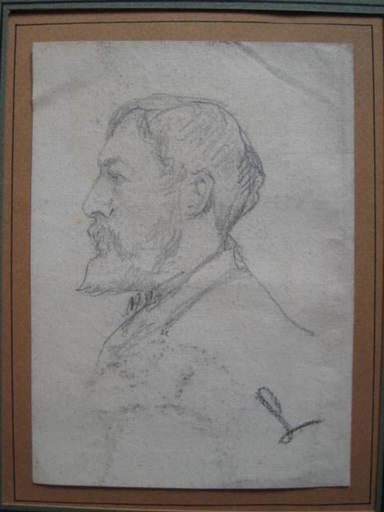 Maximilien LUCE - Zeichnung Aquarell - PORTRAITS  D   HOMME