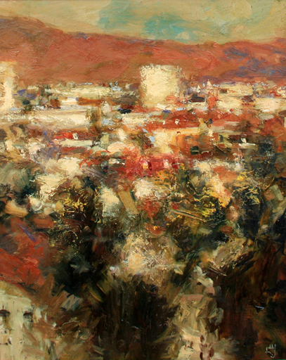 Levan URUSHADZE - Pittura - Red mountain