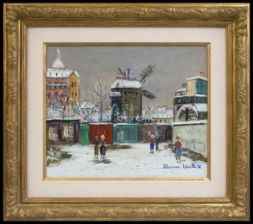 Maurice UTRILLO - Painting - Moulin de la Galette sous la Neige, Montmartre