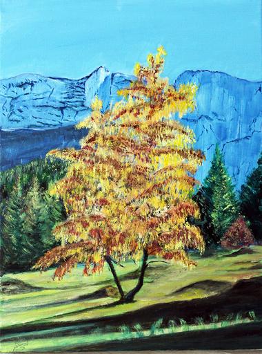 Jean PARRAUD - Painting - Dernier rayon de soleil