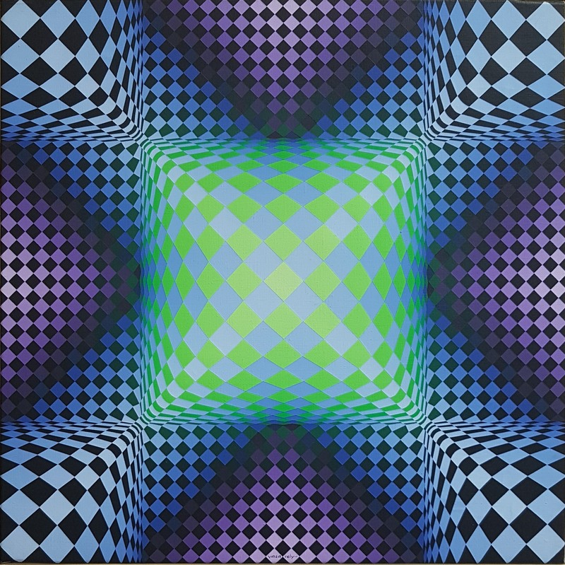 Victor VASARELY - Painting - Katica