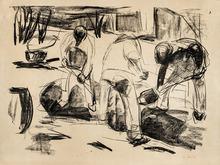 Edvard MUNCH - Grabado - Streetworkers