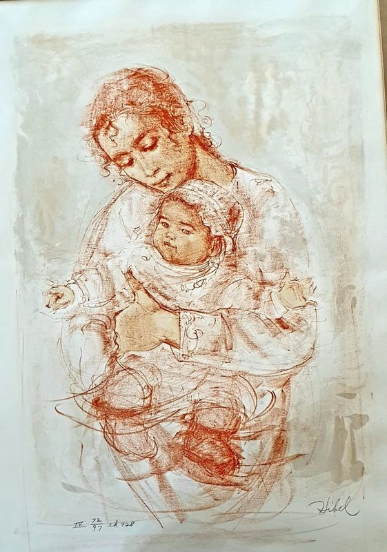 Edna HIBEL - Stampa-Multiplo - Motherhood