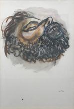 Renato GUTTUSO - Drawing-Watercolor - L'urlo