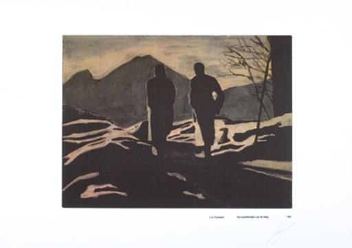 吕克•图伊曼斯 - 版画 - Transformatie van de Berg