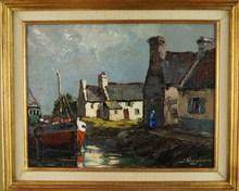 Joseph WARNER - Pintura - Saint Cado, Finistère